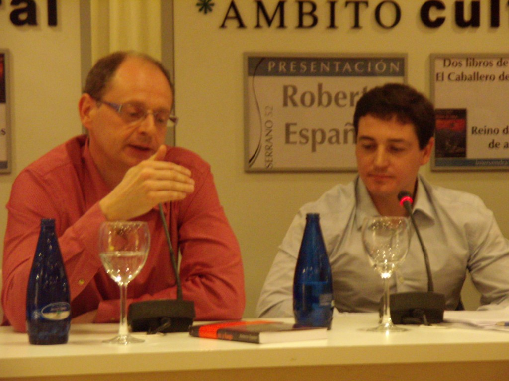 Roberto Español con Fernando Marías