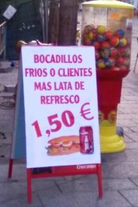Errata: venta de bocadillos y de clientes